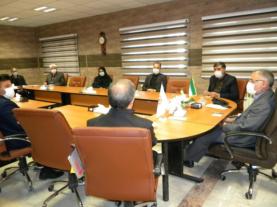 جلسه هماهنگی پویش پازل همدلی در بهزیستی استان